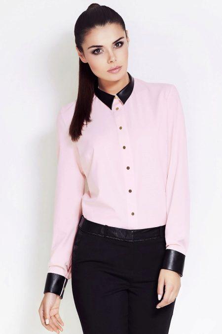 2f4ecd0bd53 Сочетание розового с черным – импозантный и контрастный вариант. Также  розовый хорошо гармонирует с разными оттенками коричневого и брусничным  цветом.