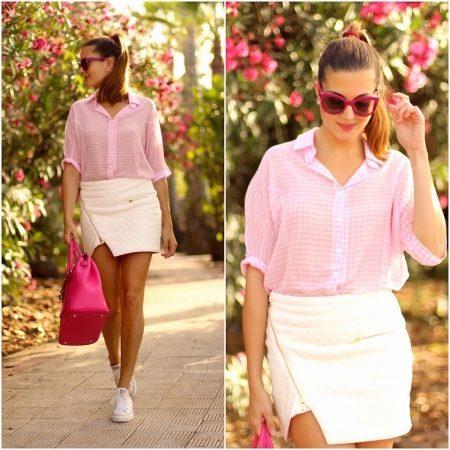 f01843c055f Идеальный вариант – сочетание розовой рубашки с голубыми джинсами. В  зависимости от места