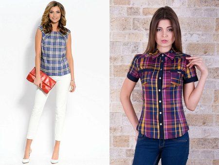 6006b4b0891b Трикотажные блузки (72 фото): с чем носить, нарядные фасоны ...