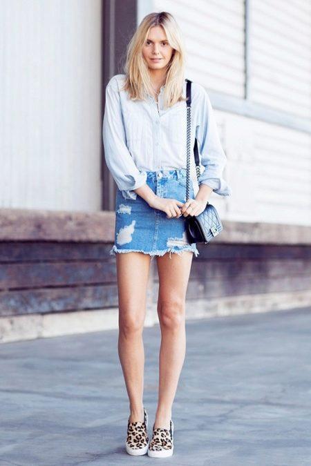 Рубашка юбка кеды фото
