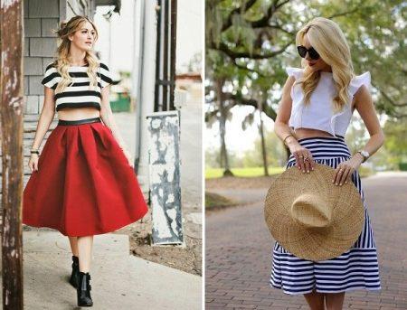 Яркие топ и юбка