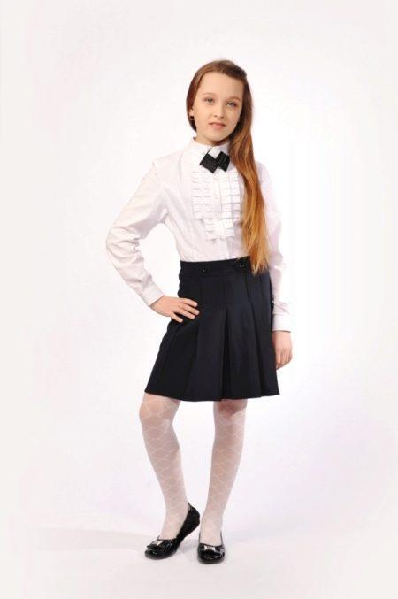 Строгая юбка на девочку