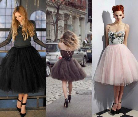 Варианты юбок для платья из фатина