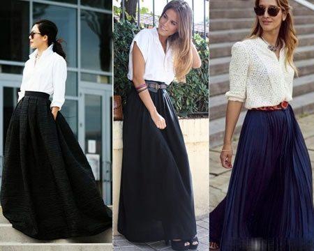 Шифоновые черные юбки в пол