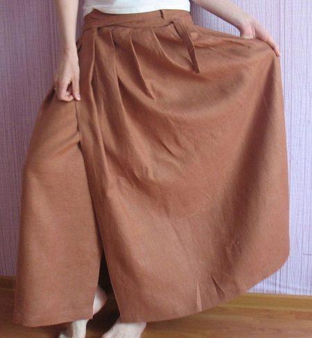 Длинные юбки из льна своими руками