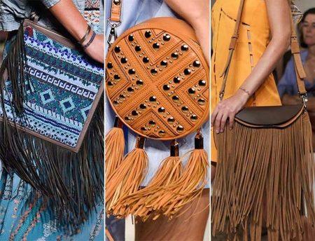 456a4b10ffc3 Кисточки на ремешке сумки Badgley Mischka привносят оригинальности  классической кожаной модели.