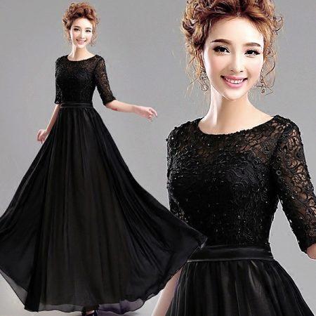 вечернее черное платье фото