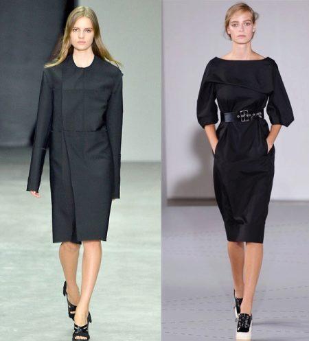 aaf9945ca2c Лучше носить платья с длинными рукавами или ¾. Можно использовать платье-футляр  без рукавов. Его можно надеть с блузой или пиджаком.