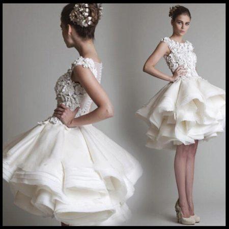 Пышные белые платья короткие фото