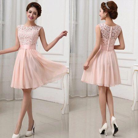 Короткие платья розового цвета фото