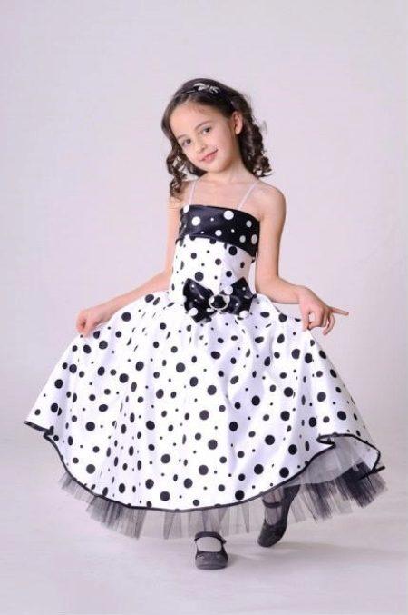 Черные пышные платья для девочек