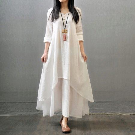 Летние платья из льна 2018 (57 фото): модные фасоны