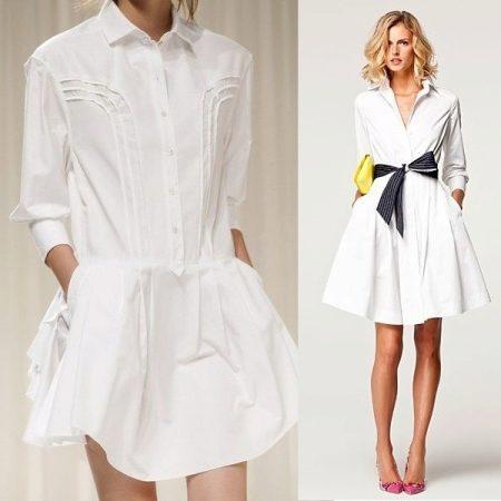 1a3f71ddb43 Белое платье-рубашка идеально для лета. Белый цвет поможет создать свежий  легкий образ. К тому же