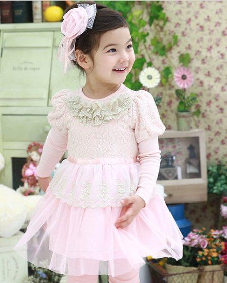 061a406d436 Платье для девочки с рукавами  с длинным рукавом
