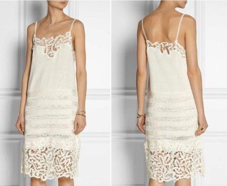 Велюровое белое платье