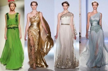 9d20c278c52b ... είναι ιδανικό τόσο για τις πλήρεις όσο και για τις λεπτές κυρίες. Θα  μπορούσε να συρθεί. Τέτοια φορέματα έχουν μια ιδιότυπη φούστα ροής μήκους  δαπέδου.
