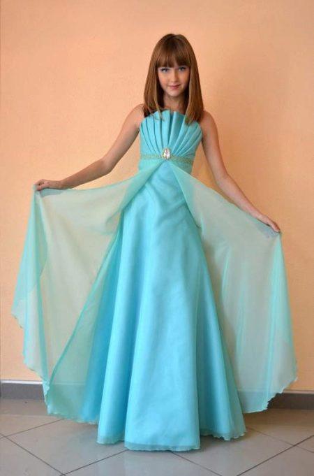 Бальное платье в пол для девочки 10-12 лет