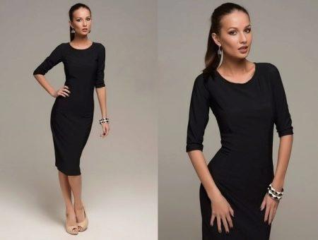 b50443cd016 Черное платье-футляр (65 фото)  с чем носить