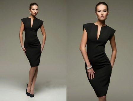 d7411226294 Черное платье-футляр (65 фото)  с чем носить