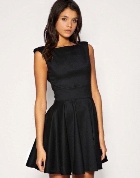 Платье желтая юбка и черная кофта
