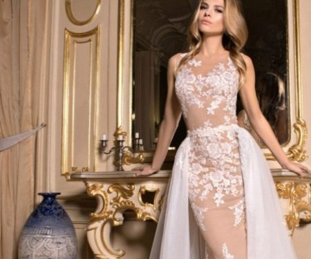 Платье с пышной съемной юбкой