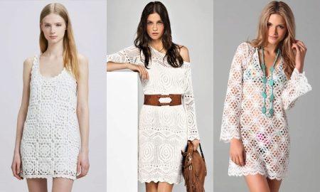 Вязанные летние платья крючок