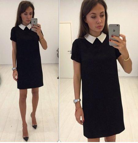 Как сшить черное платье прямое