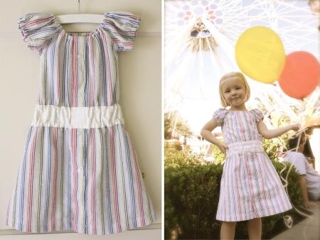 Детское платье с пуговицами сзади