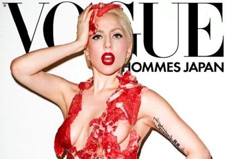 Леди Гага в платье из мяса (42 фото)