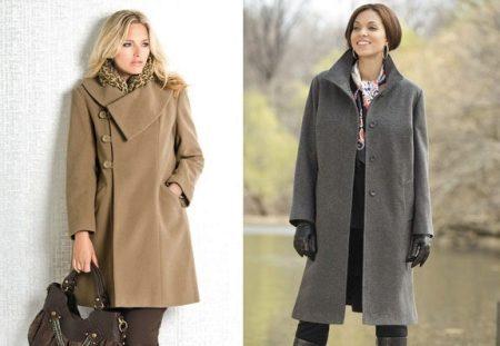 3c1e6e62b38 Прямой крой пальто незаменим для полных женщин. Этот фасон не добавляет  объем и делает фигуру аккуратной. Прямое пальто – это классика