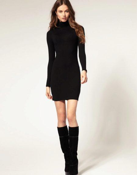 Образ с платьем ниже колена