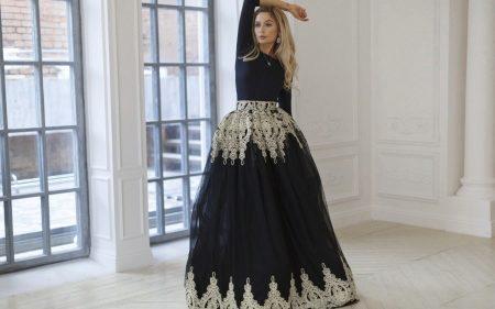 02debc52bab Платье с пышной юбкой (96 фото)  до колена миди