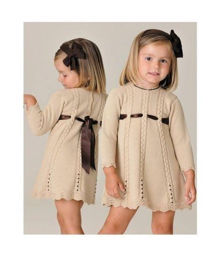 Платье вязаное для девочки фото