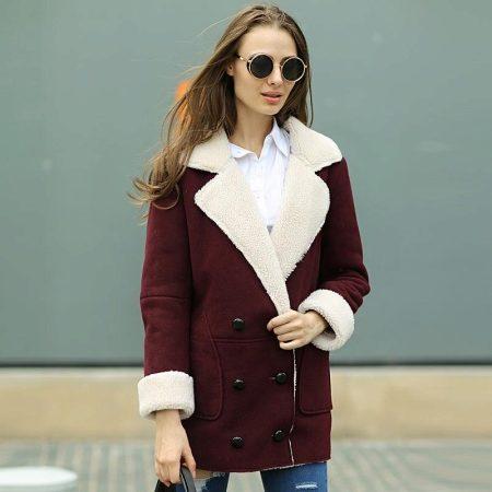Замшевое пальто (59 фото): из спандекса под замшу, с лазерной обработкой, из натуральной замши, с чем носить