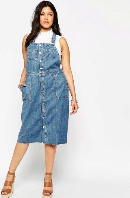 джинсовые сарафаны длинные 5