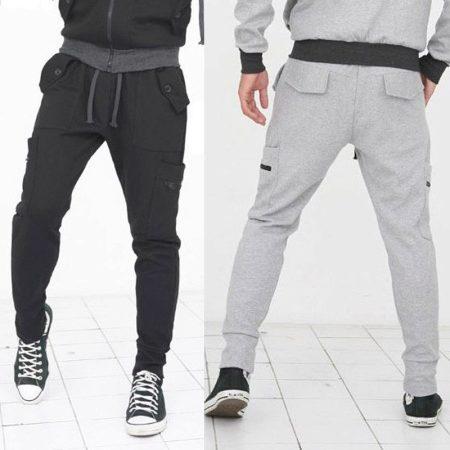 17803855 Мужские спортивные штаны (124 фото): трикотажные, с манжетами, с ...