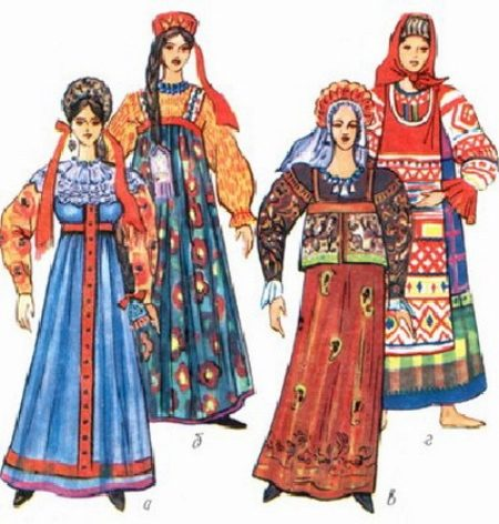 Женщины на руси и их платья