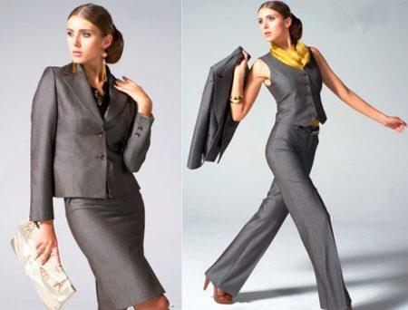 Костюм конкретно с юбкой может принимать разные формы. Если фигура  позволяет, то обратите внимание на облегающую модель, которая заметно  подчеркивает ... d8450d65ab6