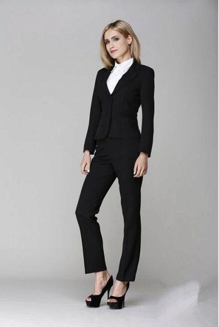 50a794e5615fc7c Черный костюм (63 фото): с черной, белой рубашкой и черным, красным ...