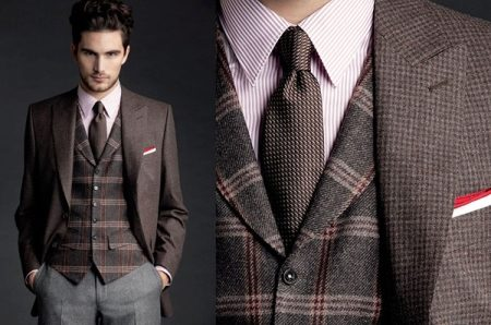Мужской костюм-тройка (97 фото) классический с жилеткой или деловой ... ec62cf42f25