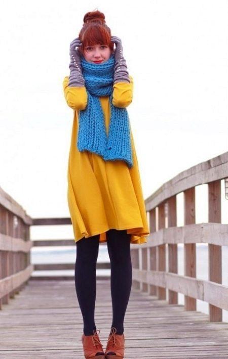 Бирюзовый шарф (44 фото): с чем носить серо-бирюзовый шарф и бирюзовый леопард