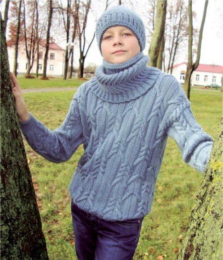 Связанный шарф мальчику