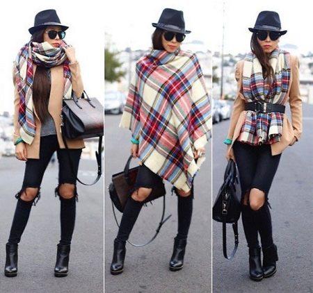 Шарф-плед (63 фото): как правильно и с чем носить большой и в клетку шарф-плед из Зары