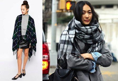 Шарф-плед (53 фото): как и с чем правильно носить большой шарф-плед Zara 187