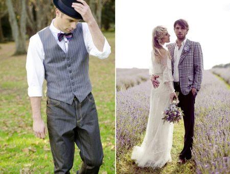Свадебный наряд для жениха без пиджака фото