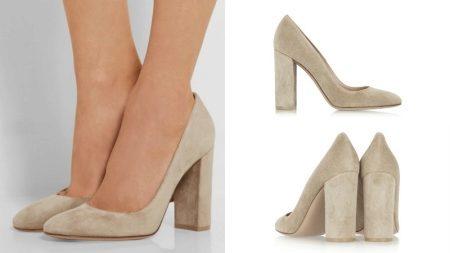 d34374aa6425 Великолепно бежевые туфли на толстом каблуке будут комбинироваться с  джинсами, шортами и юбками. В гардеробе любой современной модницы должны  присутствовать ...