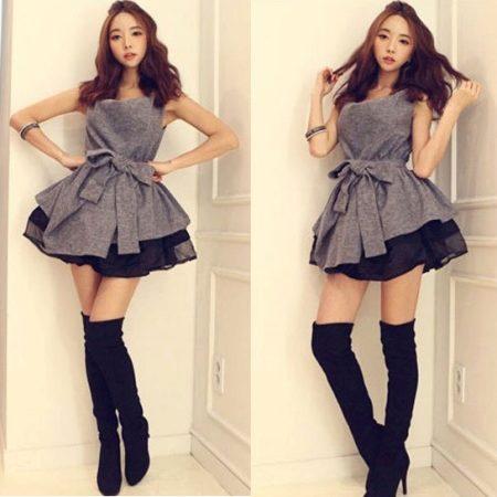 Образ с мини платьем