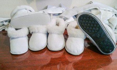 Теплые тапочки для дома на меху