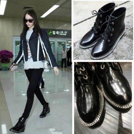 Женские ботинки на шнурках (59 фото): зимние на шнуровке, угги (UGG Australia), Шанель, Boa, длинные с высокой шнуровкой