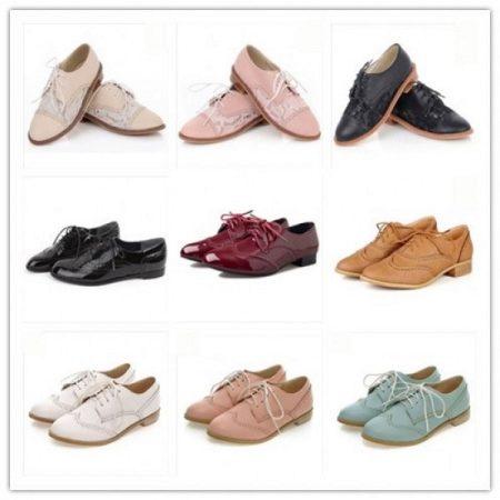 С чем носить женские оксфорды (46 фото): рыжие туфли и ботинки на платформе, красные на каблуке с платьем